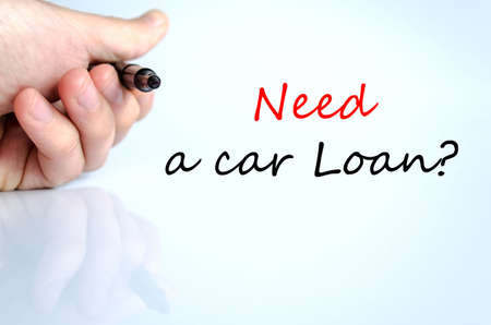 Need a car loan text concept isolated over white background
