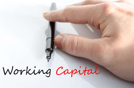 qualify: Working capital text concept isolated over white background Stock Photo