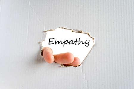 empatia: Empat�a concepto de texto aislados sobre fondo blanco