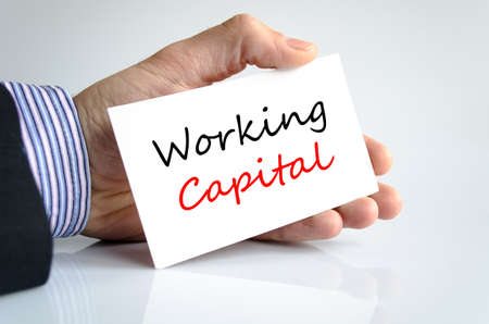 Working capital text concept isolated over white background Stock Photo