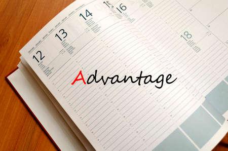 advantage: Advantage business text concept background Stock Photo