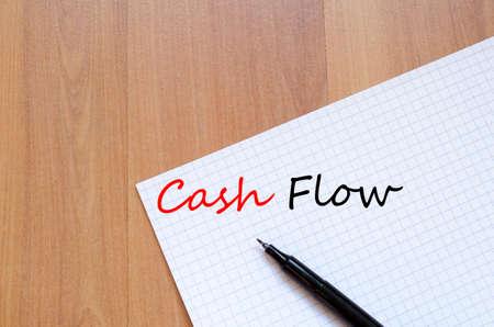 cash flow: Cash flow business text concept background