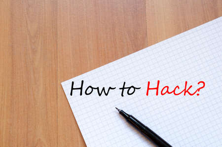 hack: How to hack business text concept background