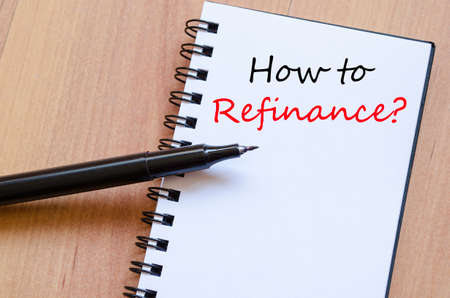 How to refinance business text concept background