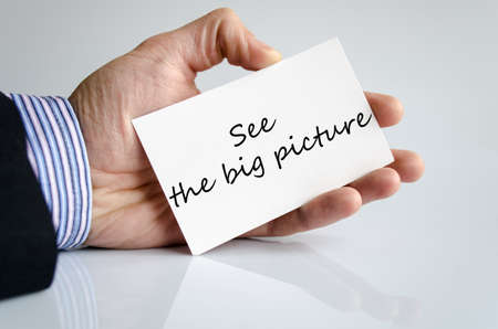 big picture: See the big picture text concept isolated over white background