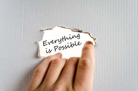 Everything is possible text concept isolated over white background