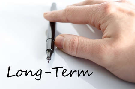 marketingplan: Long-Term text concept isolated over white background Stock Photo