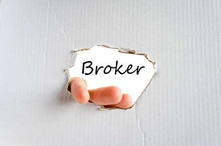 broker: Concepto de texto Broker aislado m�s de fondo blanco Foto de archivo