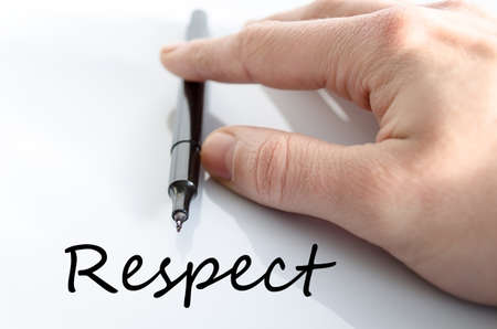 believable: Respect text concept isolated over white background