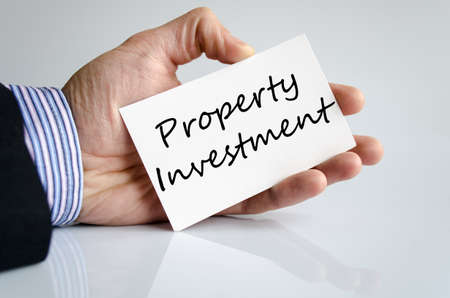 property management: Property investment text concept isolated over white background Stock Photo