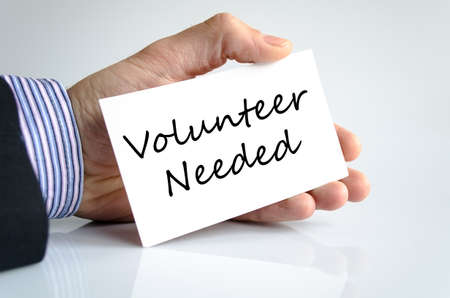 needed: Volunteer needed text concept isolated over white background