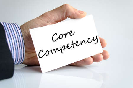 competency: Core competency text concept isolated over white background
