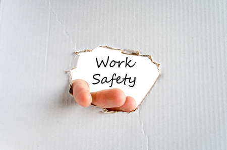 white work: Work safety text concept isolated over white background