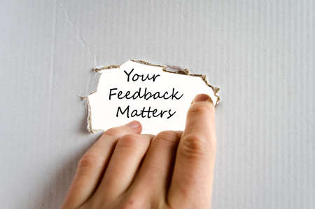 matters: Your feedback matters text concept isolated over white background
