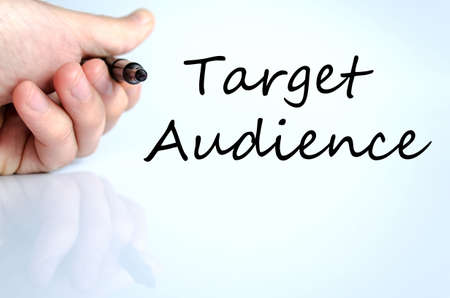 TARGET: Target audience text concept isolated over white background
