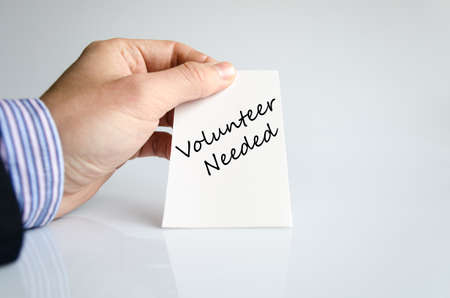 Volunteer needed text concept isolated over white background