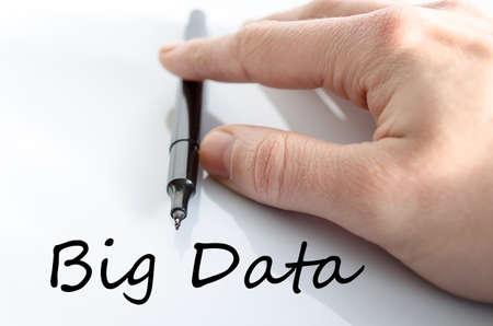 meta analysis: Big data text concept isolated over white background Stock Photo