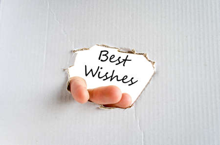 acclaim: Best wishes text concept isolated over white background Stock Photo