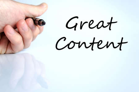 trending: Great content text concept isolated over white background Stock Photo