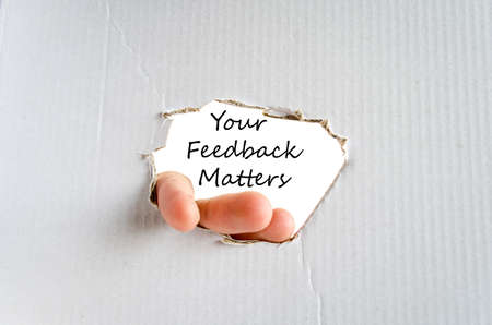 openness: Your feedback matters text concept isolated over white background