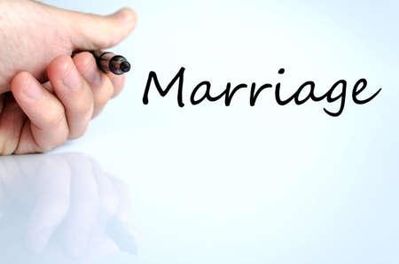 severance: Concepto de texto Matrimonio aislado m�s de fondo blanco