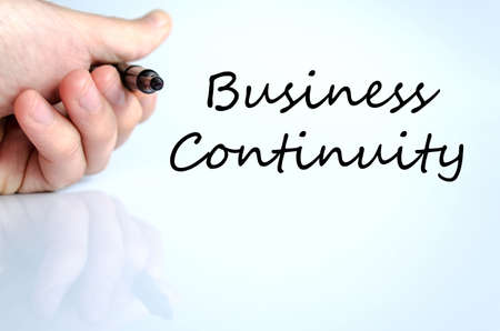 Business continuity text concept isolated over white background