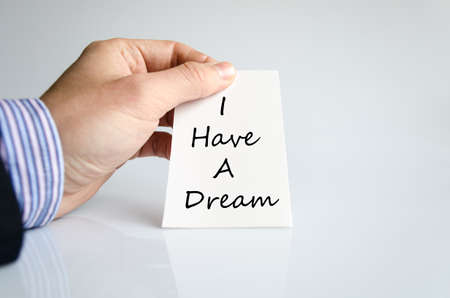 visions of america: I have a dream text concept isolated over white background