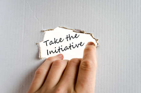initiative: Take the initiative text concept isolated over white background