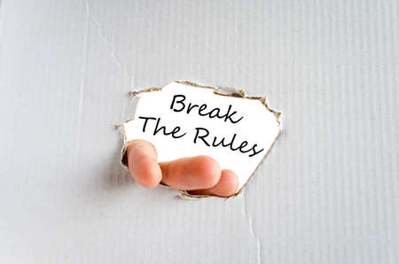 rebelling: Break the rules text concept isolated over white background