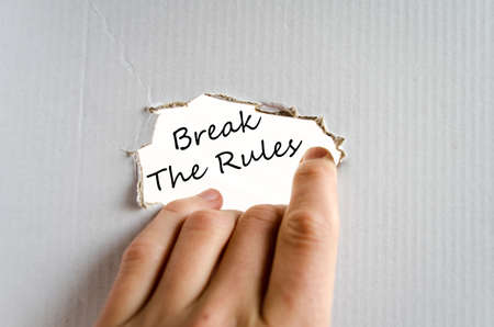 break the rules: Break the rules text concept isolated over white background
