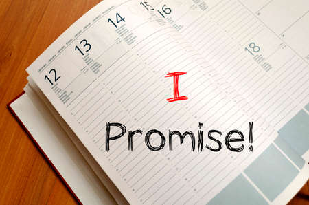 promise: I promise text concept write on notebook