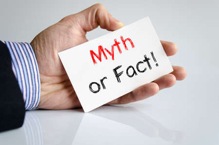 Myth or fact text concept isolated over white background Stock Photo