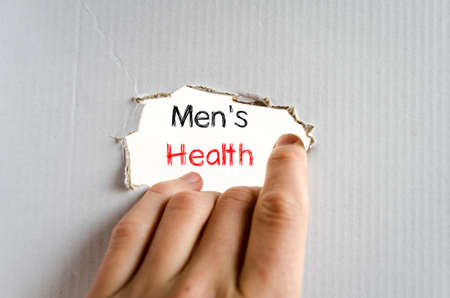 cancer screening: Mens health text concept isolated over white background