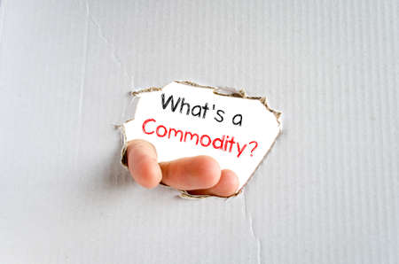 commodity: Whats commodity text concept isolated over white background