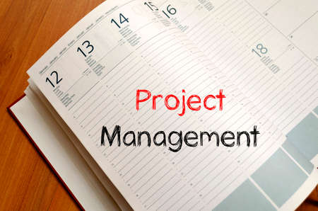 deliverables: Project management text concept write on notebook Stock Photo