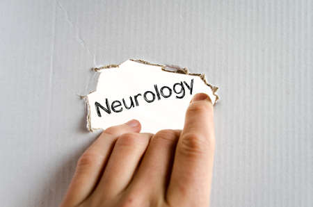 crohn's disease: Neurology text concept isolated over white background