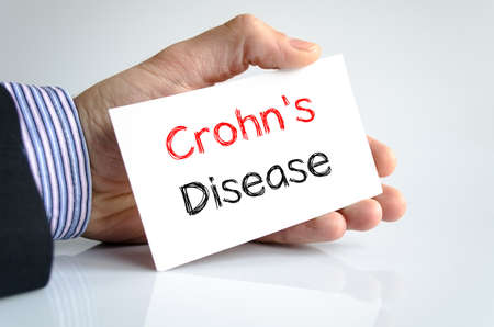 crohn's disease: Crohns disease text concept isolated over white background