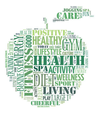 bodycare: Healthy life illustration word cloud concept