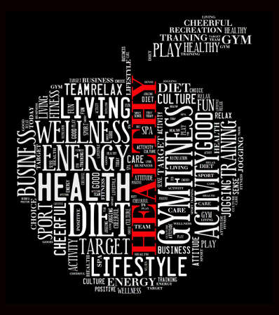 recreational pursuit: Healthy life illustration word cloud concept
