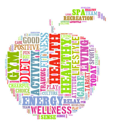 word cloud: Healthy life illustration word cloud concept