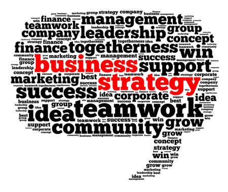 tactics: Business and strategy illustration word cloud concept