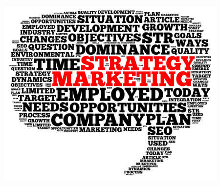 marketers: Marketing strategy illustration word cloud concept