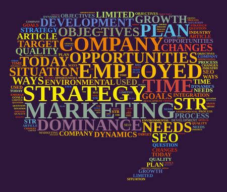 competitive advantage: Marketing strategy illustration word cloud concept