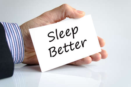 better: Sleep better text concept isolated over white background Stock Photo