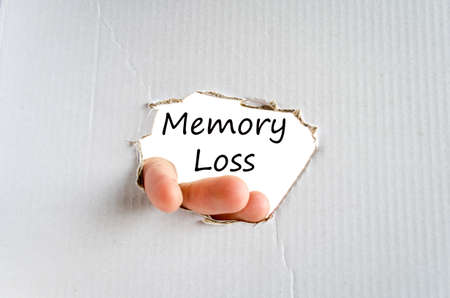 degenerative: Memory loss text concept isolated over white background Stock Photo