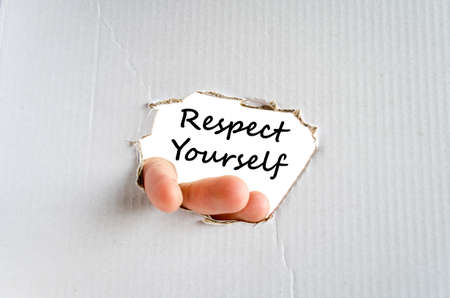 believable: Respect yourself text concept isolated over white background
