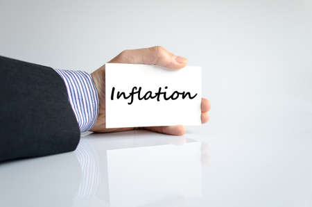 unemployment rate: Inflation text concept isolated over white background