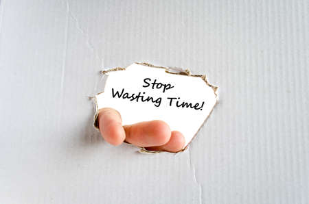 losing knowledge: Stop wasting time text concept isolated over white background