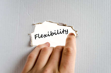 easygoing: Flexibility text concept isolated over white background Stock Photo