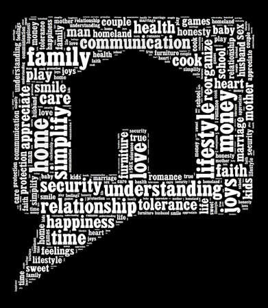 simplify: Home and family word cloud concept